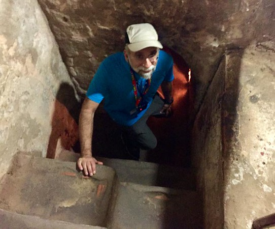 Here I am getting ready to explore one of the Cu Chi Tunnels for myself. I walked hunched over in a very dimly lit tunnel for about 40 feet then climbed up approximately 10-15 feet on a ladder to get out. Hard to imagine anyone spending significant time in these tunnels without suffering some sort of ill effects.
