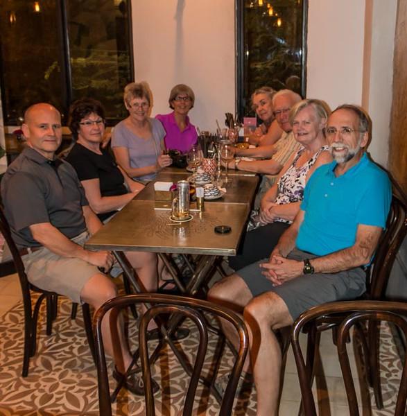 Our last dinner in Saigon