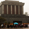 The Tomb of Ho Chi Minh where people continue to go and pay their respects