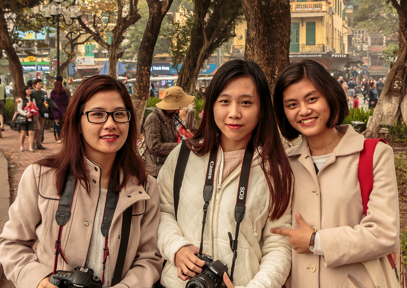 These 3 young women had just gotten new cameras and wanted to take my picture (also because I was one of very few caucasians walking around) so I agreed but only if I could take their picture too!