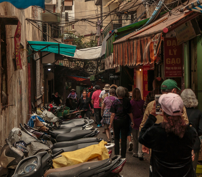 Some streets are so narrow there is hardly room to walk