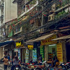 Another typical street as we walked around Hanoi