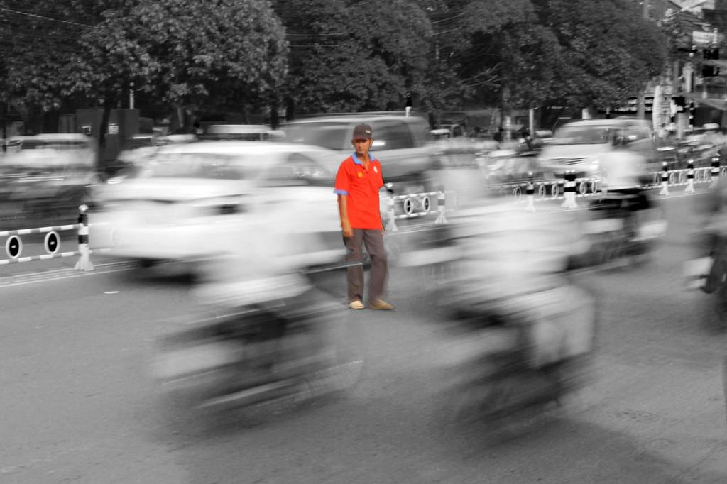 Crossing the Road in Saigon