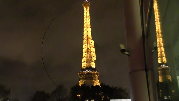 Video:  8 minutes - Sat., Nov. 10, 2018 --An evening jaunt to catch the lighting of the Eiffel Tower