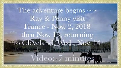 Video:  7 mins -- Walking tour of Nov. 2, 2018 the day we arrived Paris, France