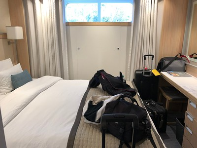 Our room was small but we adjusted nicely.  Plus the fact we didn't spend much time in it because of tours.