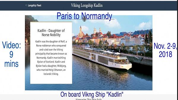 "Video: 9 mins ~~ Viking River Boat ""Kadlin"" - Come aboard for a visit"
