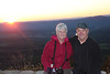 October 12, 2012 - (Shenandoah National Park [Skyline Drive overlook] / Front Royal, Warren County, Virginia) -- Mary Anne and David at Sunset