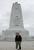 October 8, 2012 - (Wright Brothers National Memorial / Kill Devils Hill, Dare County, North Carolina) -- David in front of Wright Brothers Monument