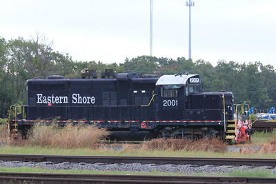 October 7, 2012 - (Eastern Shore Birding Festival / Cape Charles, Northampton County, Virginia) -- Train across from Birding Festival