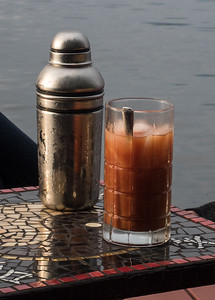 Libation on the Dock