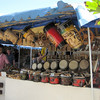 Second stop in Varadero (after seeing how windy it was on the beach) is the market at Gran Parque de la Artesania.  Anyone for bongos?
