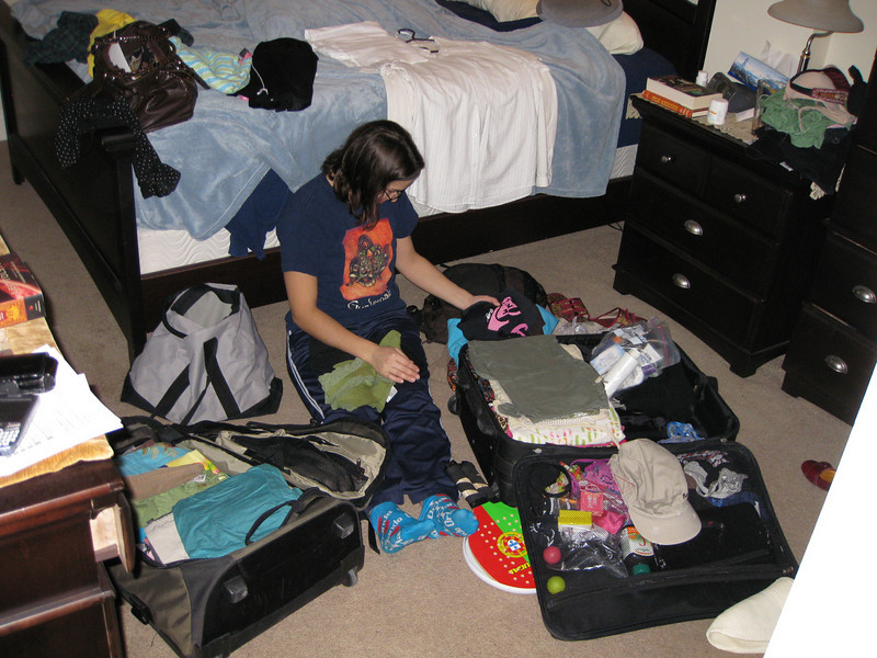 The mess that is packing for our next trip
