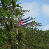 Bienvenito a Cuba!  Welcome to Cuba!<br /> Cuba's flag flaps in the wind in Varadero