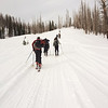Almost to the Yurt.  We were towed by snowmobile for the first 6 miles, and then had to go the last two miles ourselves