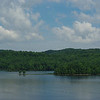 Summersville Lake across from dam, with Tammy's favorite peninsula