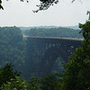 New River Gorge Bridge.  Largest arch bridge in the Western Hemisphere.  Maybe not for long - I think the one at Hoover dam may beat it!