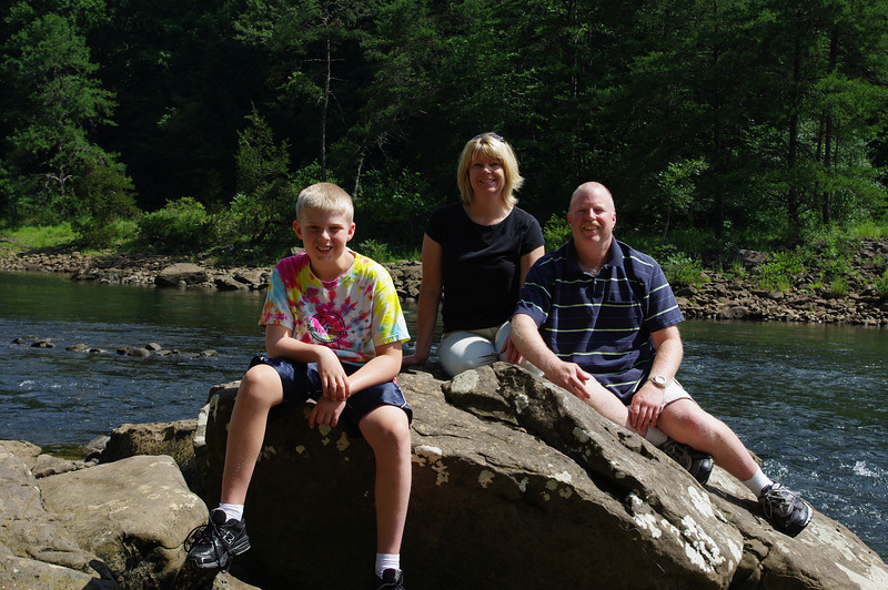 Family portrait on the Gauley River