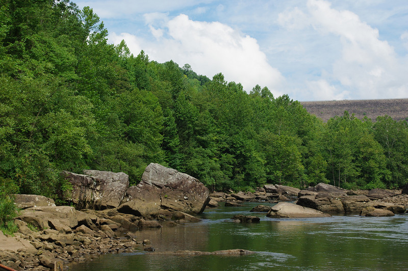 Gauley River looking towards the dam