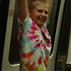 Cole Hanging from Tram