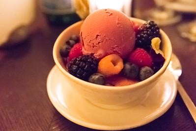 Cobbler Seasonal Berries, Black Raspberry Ice Cream