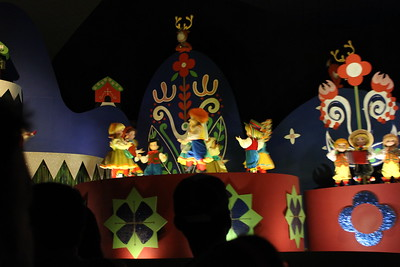 """As the line was short we decided to go rid the """"It's A Small World"""" ride.  While it rained outside."""