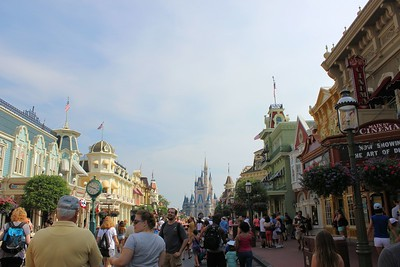 We made it. I can now check this off my bucket list.  I finally got to go to Walt Disney World FL.  A shot of Main Street.