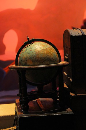 I am sure this is a old globe that has the old country names listed.  It would have been fun to see what year it was from.  This was  from the Little Mermaid ride.  Where she keeps all her thingamabobs.