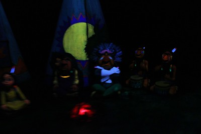 The Indians from the Peter Pan ride