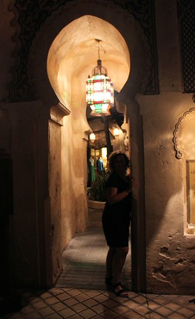 So Lorinda & I had a girls night out at Epcot.  We traveled around the world. We stopped in Morocco and had a photo-shoot.  Look at the mysterious beautiful lady in the archway.