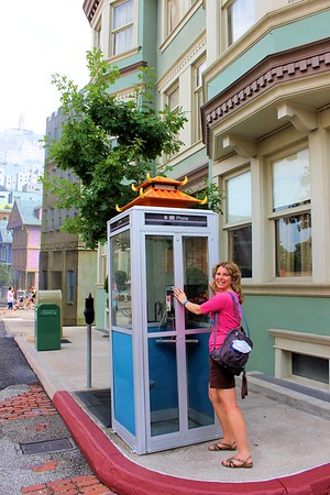 I found an old fashioned telephone booth.  I so wanted to go use the phone but they had the booth locked :(