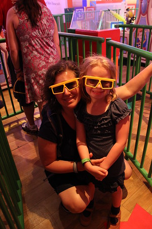 We got to wear styling cool 3D glasses.  Lorinda & Makenna showing off their fashion glasses.