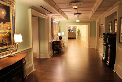 Here is a view of one of the halls in the Boardwalk hotel.