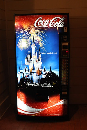 I got a kick out of the Coca-Cola machine that was also advertising Walt Disney World.  This was located by the quiet pool at our hotel.