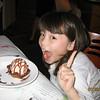 Eveyln happy with her ice cream