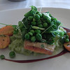 Wild Columbia River Salmon with English Pea Risotto