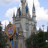 Cinderella Castle (decorated for Disney's Happiest Celebration on Earth) at Magic Kingdom in Orlando.