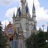Cinderella Castle (decorated for Disney's Happiest Celebration on Earth) at Magic Kingdom in Orlando.