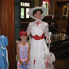 Evelyn posing with Mary Poppins.<br /> <br /> This picture is taken at Epcot's England pavilion.