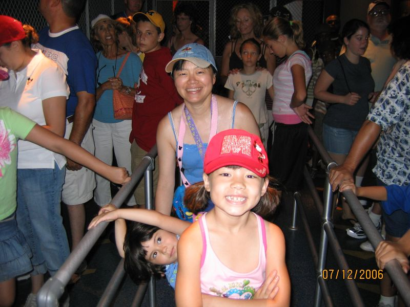 Waiting in line for Soarin' at Epcot.