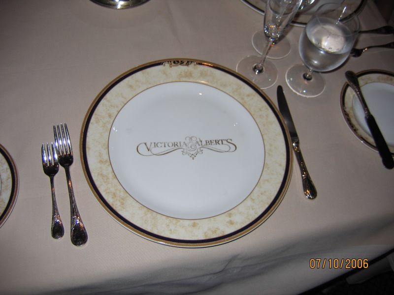 Table setting at Victoria & Albert's Restaurant.