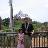 Evelyn and me posing in front of Expedition Everest at Disney's Animal Kingdom.