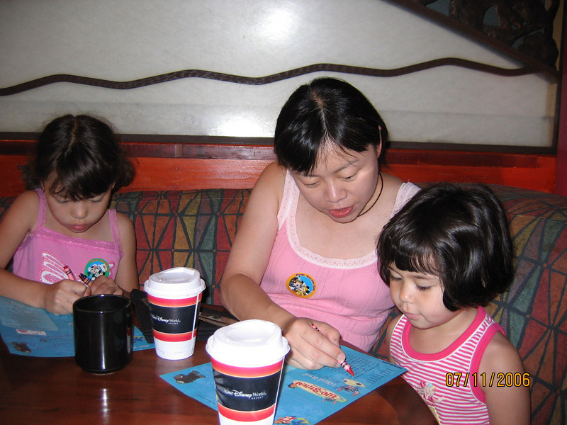Family at Kona Cafe