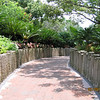 Polynesian walkway to tranportation center