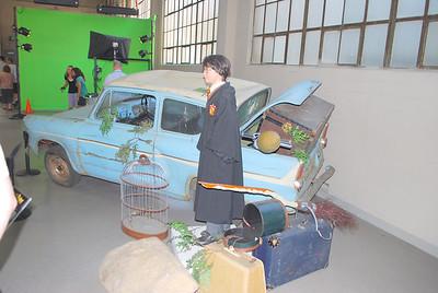 Harry Potter's flying car.