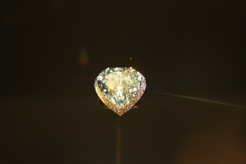 Blue Heart Diamond Ring (330 carats, South Africa) - Museum of Natural History