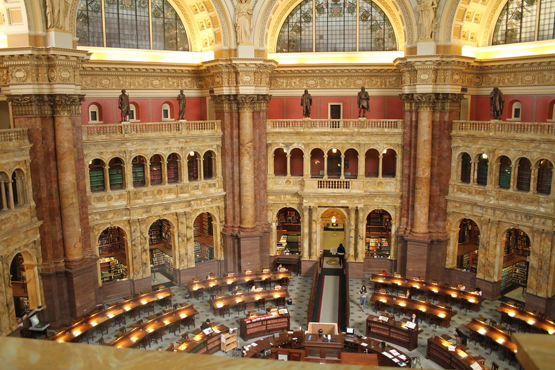 Reading room at The Library of Congress