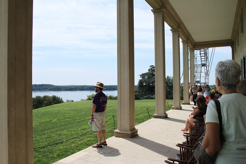 View off the Mt Vernon rear deck looking toward  the Potomac