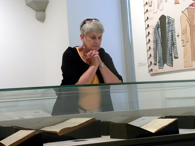 "June 23, 2010 / (The National Portrait Gallery / Washington D.C.) -- MaryAnne contemplating an exhibit titled ""Lists"""