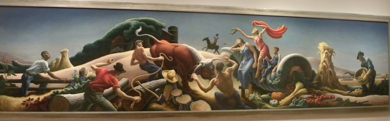 June 23, 2010 - (The National Portrait Gallery / Washington D.C.) -- Thomas Hart Benton painting
